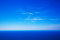 Sky and deep blue sea