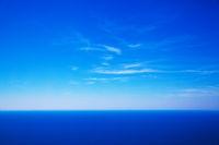 Sky and deep blue sea