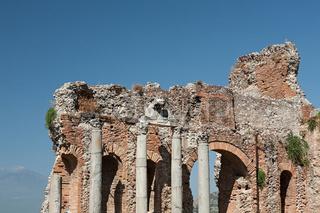 Ancient greek theater of Taormina, Sicily, Italy