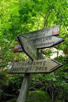 Wanderwegweiser in Südtirol