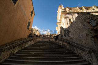 Stufen in Dubrovnik. Kroatien