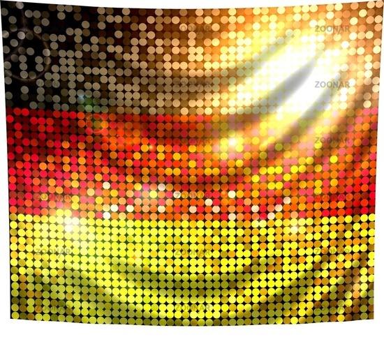 glitzernde pailetten flagge deutschland