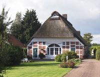 Reetdachhaus, Friesenhaus, Niedersachsen, Altes, Haus