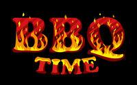 Fire sign BBQ time logo design template
