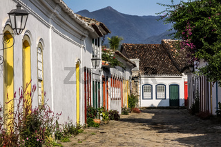 Straße in Paraty in Brasilien