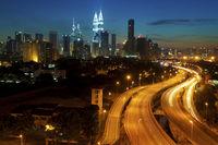 Kuala Lumpur city sunset