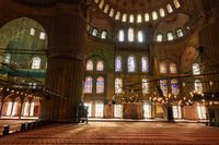 Interior view of the mosque Suleymaniye.Turkey Istanbul