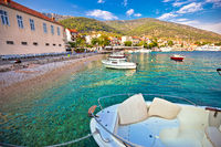 Town of Bol on Brac island turquoise seafront view