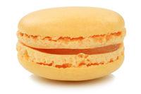 Orange Macaron Macaroon Keks Nachtisch Dessert aus Frankreich Freisteller