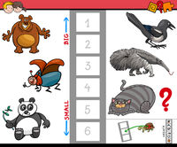 big and small animals educational game for kids