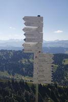 Wegweiser im Hochgebirge