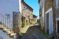 Traditional Portugal old street. Monsanto