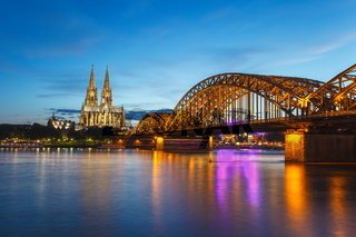 Cologne city skyline, Germany