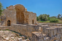 Ancient basilica in Gortys, Crete, Greece