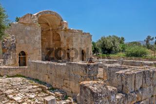 Ancient basilica in Gortys, Crete, Greece