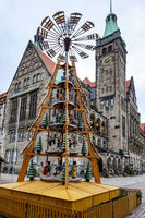 Chemnitz Christmas market with pyramid