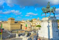 Tourist visit Rome landmark, Italy