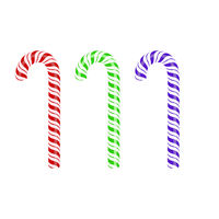 Colored Sweet Striped Candy Cane