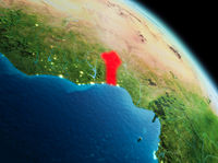 Morning over Benin on Earth