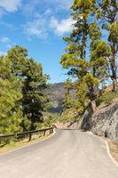 Straße durch Tejeda, Gran Canaria in Spanien