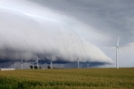 Shelf cloud - northern Illinois
