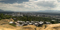 Long Panoramic Salt Lake City Utah Downtown City Center State Capital