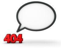 error 404 und sprechblase - 3d rendering