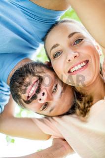 Mann und Frau als glückliches Paar
