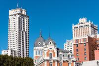 Typische Gebäude in Madrid
