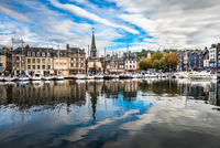 Old port of Honfleur, Normandy, France