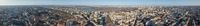 Panorama of the city of Kiev with the Dnieper river against the blue sky, Ukraine