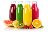 Saft Smoothie Smoothies Flasche Fruchtsaft Frucht Früchte isoliert freigestellt Freisteller