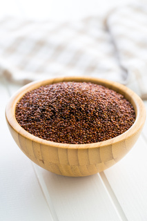 Red quinoa seeds.