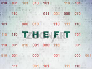 Privacy concept: Theft on Digital Data Paper background