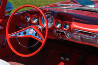 Interior on an old classic car