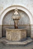 Brunnen in Dubrovnik. Kroatien