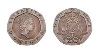 British Twenty Pence Coin