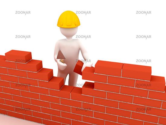 Hausbau clipart  Foto Brick wall Bild #1336539