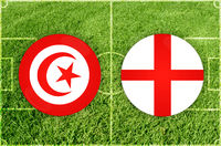 Tunis vs England football match