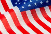USA flag close-up view