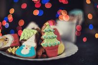 Christmas cookies and cup of tea