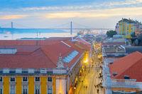 Lisbon at dusk, Portugal