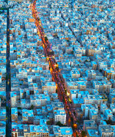 Tehran aerial view. Iran