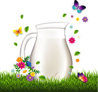 JugWithMilkAndGrassAndFlowersWhiteBackground-10-M-180304.eps