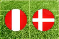 Peru vs Denmark football match