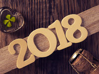 New Year 2018 concept