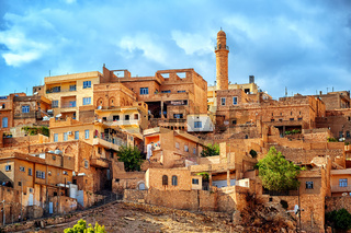 Traditional architecture in the old town of Mardin, Turkey