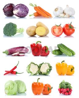 Gemüse Karotten Tomaten Paprika Salat Essen Sammlung Freisteller freigestellt isoliert