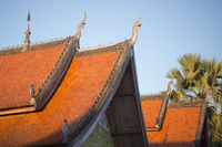 LAOS LUANG PRABANG OLD TOWN TEMPLE ROOF
