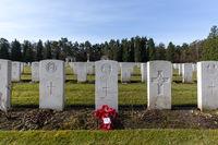 British War Cemetery in Becklingen, Germany